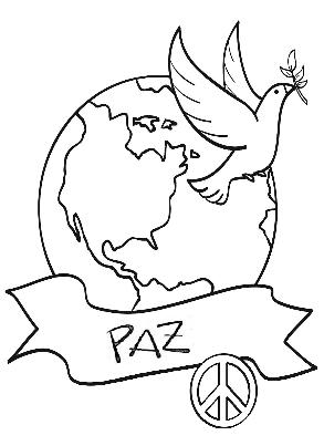 30 de enero  Da de la Paz y la No violencia para pintar