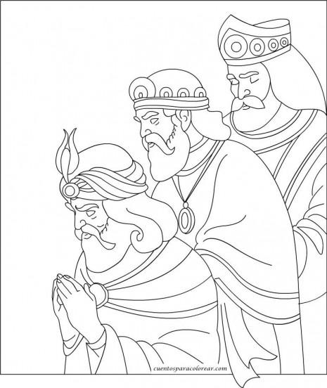 Dibujos de Melchor Gaspar y Baltasar para colorear Tres Reyes Magos para pintar  Colorear imgenes