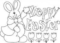 Dibujos para imprimir y colorear de Happy Easter ...