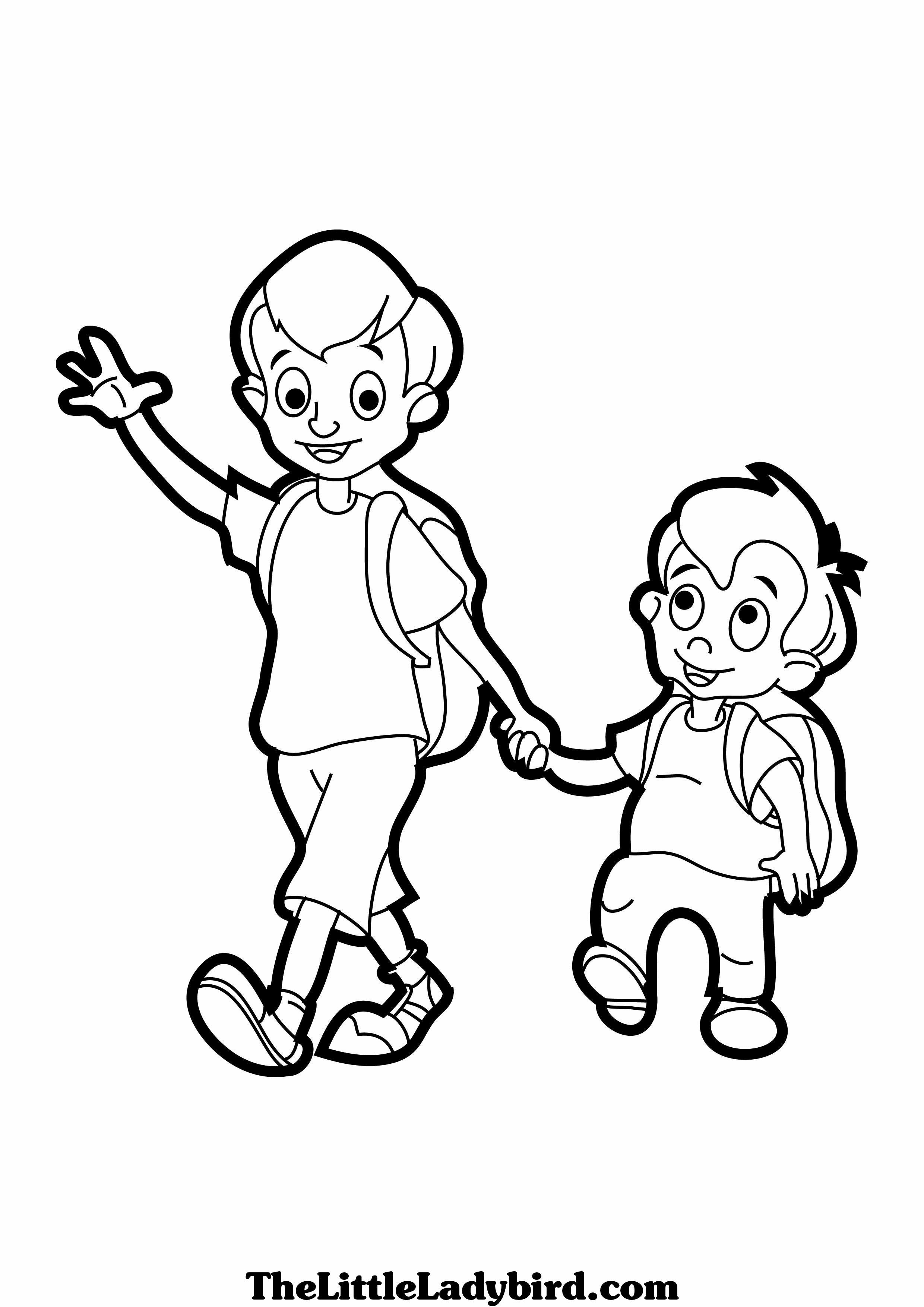 Pintando dibujos del Día del Hermano para regalar