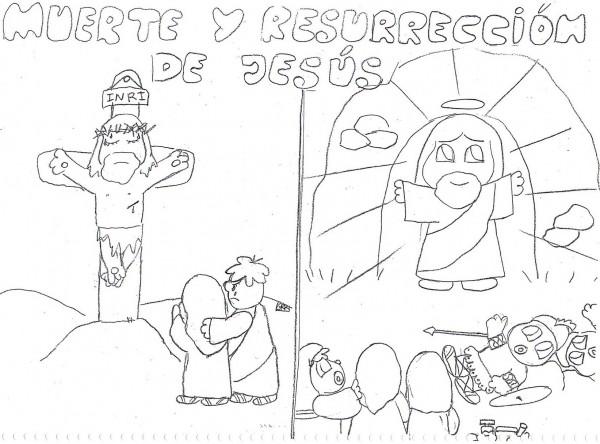 Dibujos de la Resurrección de Jesucristo para pintar