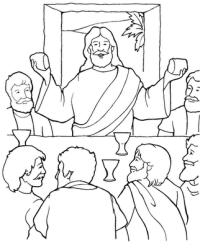 Imagenes Para Colorear De La Ultima Cena Compartiendo
