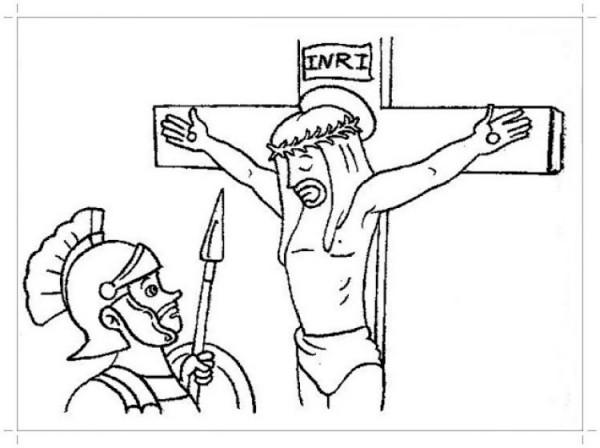 Es por eso que te proponemos el siguiente paso a paso para lograr un bonito dibujo que luego puedas colorear como más te guste: Dibujos de la Crucifixión de Cristo para pintar   Colorear