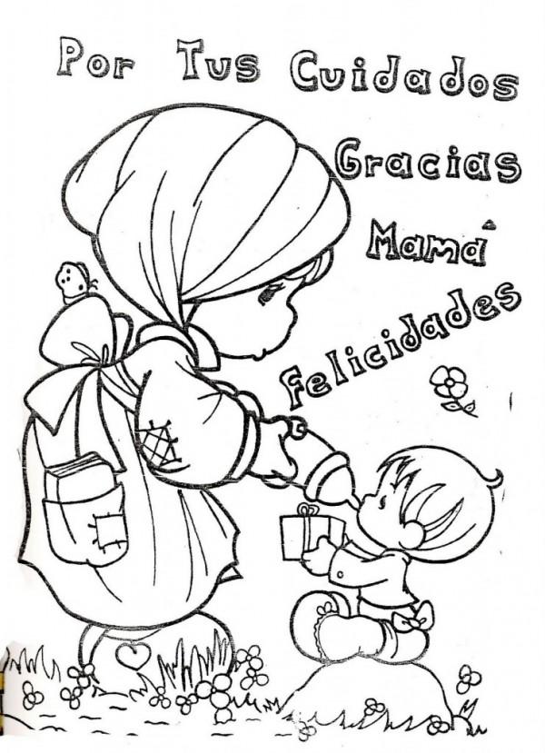 Dibujos De Felicidades Mam Para Colorear Y Dedicar En El