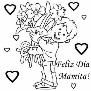 Dibujos de Felicidades Mamá para colorear y dedicar en el