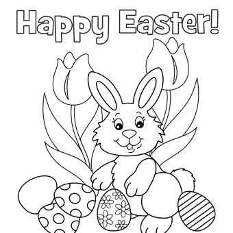 Dibujos para imprimir y colorear de Happy Easter