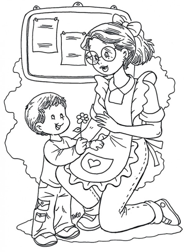 Maestra De Infantil Dibujos De Halloween Para Colorear