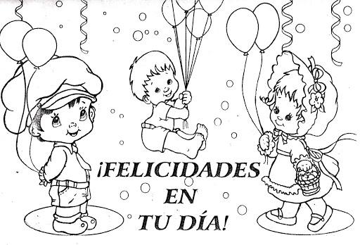 Dibujos de Felíz día a todos los niños y niñas para