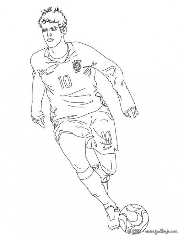 Dibujos de jugadores de fútbol famosos para pintar: Messi