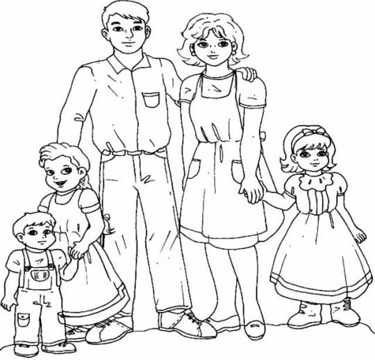 Da De La Familia Dibujos Para Pintar