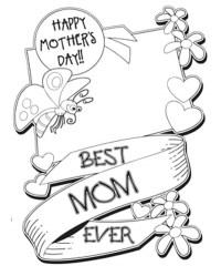 Happy Mothers Day  Dibujos para imprimir y colorear en
