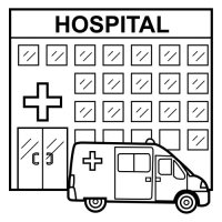 Dibujo De Una Clinica Para Colorear Dibujo Para
