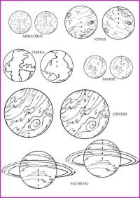 Imgenes del los planetas para colorear | Colorear imgenes