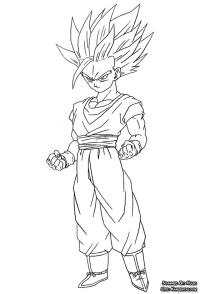 Dragon ball Z dibujos para colorear GOHAN