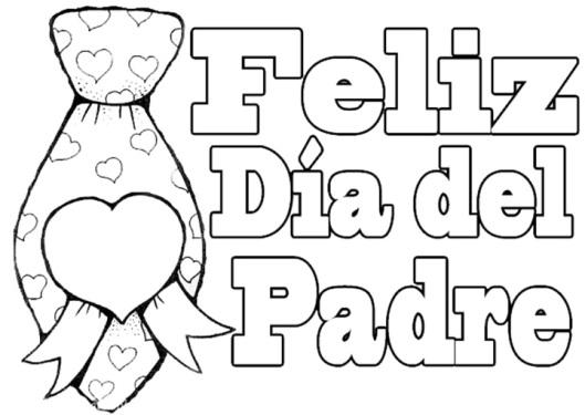 Dibujos de Felíz Día Papá para imprimir y pintar: Feliz