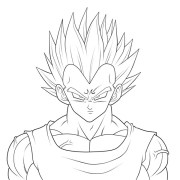 vegeta de dragon ball dibujos