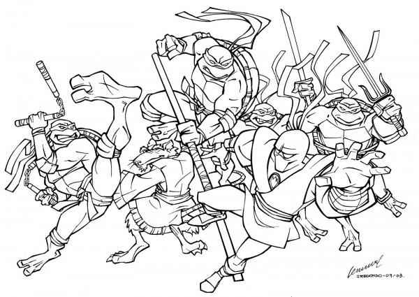 Imgenes De Las Tortugas Ninja Para Colorear Colorear