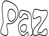 Carteles con la palabra Paz para colorear | Colorear imgenes