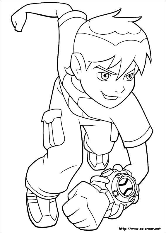 Inspirado na série animada, o omnitrix básico foi criado para ser uma. Imágenes para pintar de Ben 10 para los niños | Colorear