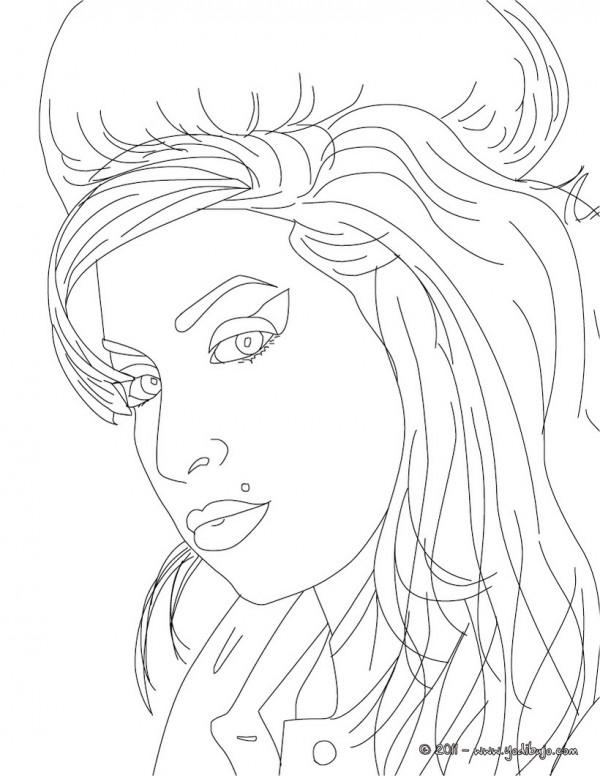 Imágenes de caricaturas para pintar de Any Winehouse