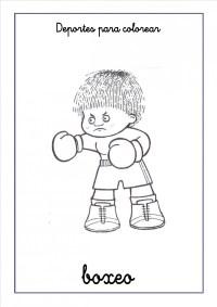 Imgenes de boxeo para colorear: Boxeadores peleando para ...