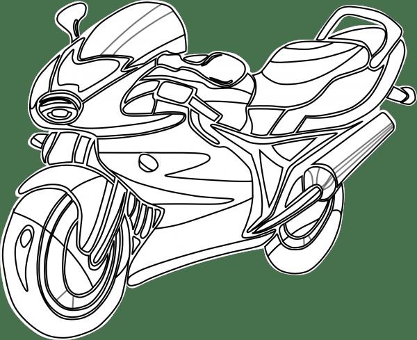 Imágenes de espectaculares motos para descargar y pintar