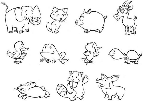 Dibujos del Día Mundial de los Animales para colorear