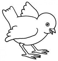 Un Pollito Para Colorear Simaticos Dibujo Sencillo Para