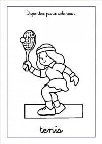 Imgenes de tenis para colorear: Tenistas para pintar ...