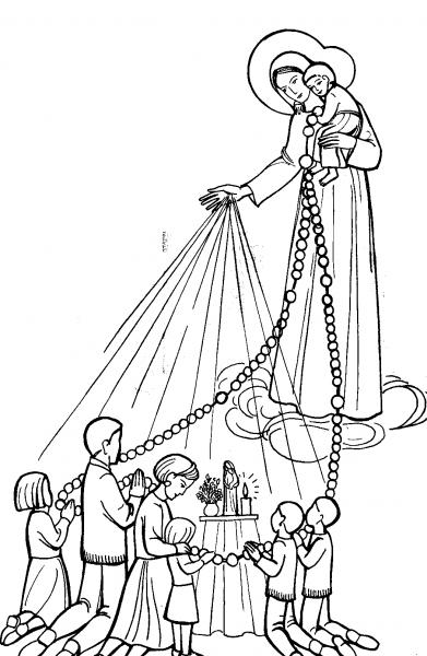 Dibujos del Día de Nuestra Señora del Rosario de San