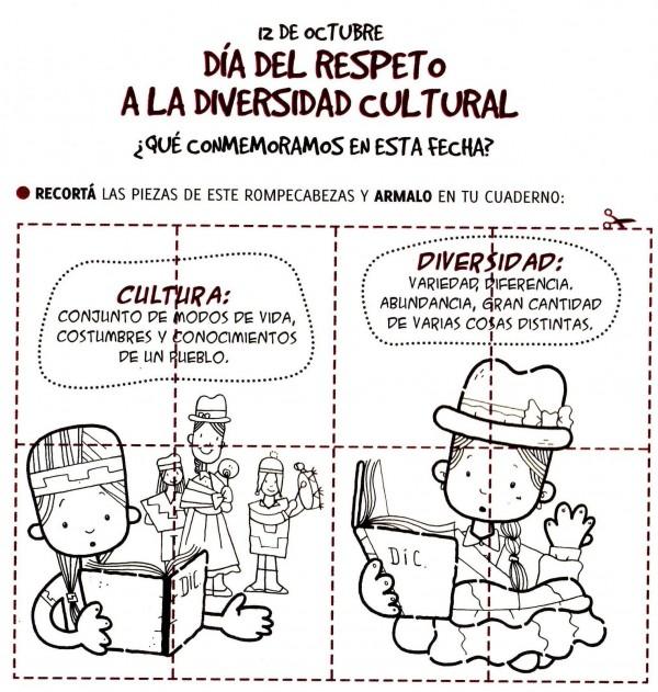 Dibujos Para Colorear Del Da Del Respeto A La Diversidad