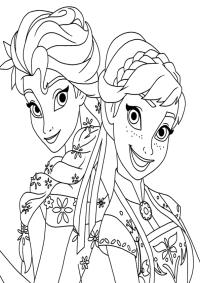 Dibujos Para Colorear Elsa Y Ana Dibujos De Las Princesas Anna