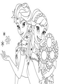Dibujos de las princesas Anna y Elsa Frozen para imprimir ...