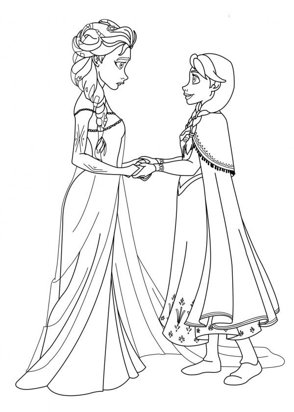 Dibujos Para Colorear Elsa Frozen