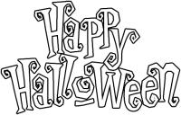 Carteles de Happy Halloween para imprimir y pintar ...
