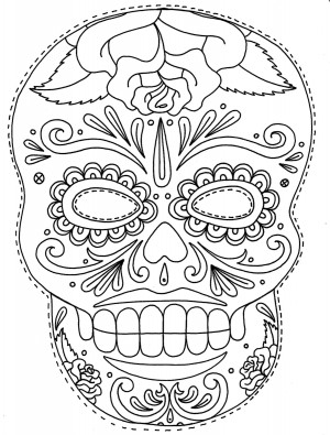 Dibujos de calaveras mexicanas para imprimir y pintar