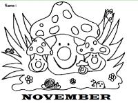 Portadas De Noviembre Para Colorear Portada Noviembre