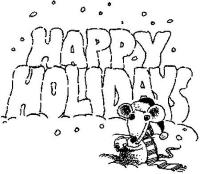 Happy Holidays!!!  Dibujos para colorear | Colorear imgenes