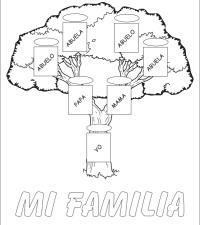 Arbol Genealogico Para Colorear Arbol Genealogico De La