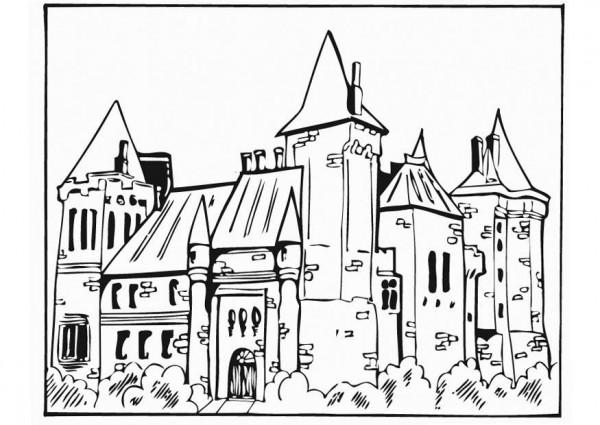 Dibujos de castillos de la Edad Media para colorear  Colorear imgenes
