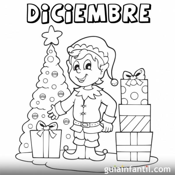 Dibujos del mes de diciembre para colorear  Colorear imgenes