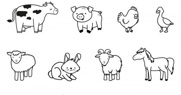 Dibujos infantiles de animales para descargar, imprimir