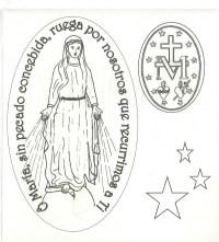 Imagenes De La Virgen Milagrosa Para Colorear Dibujos