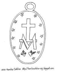 Imagen De La Virgen De La Medalla Milagrosa Para Colorear