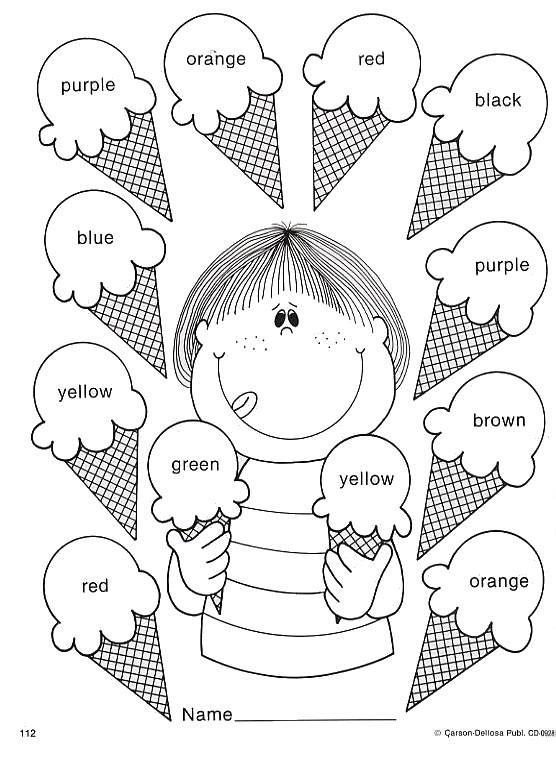 Actividades infantiles para pintar y aprender los colores
