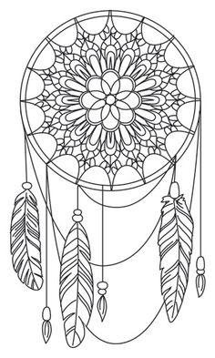 Dibujos de atrapasueños para imprimir y colorear