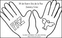 Dibujos para colorear del Da Escolar de la No Violencia y ...