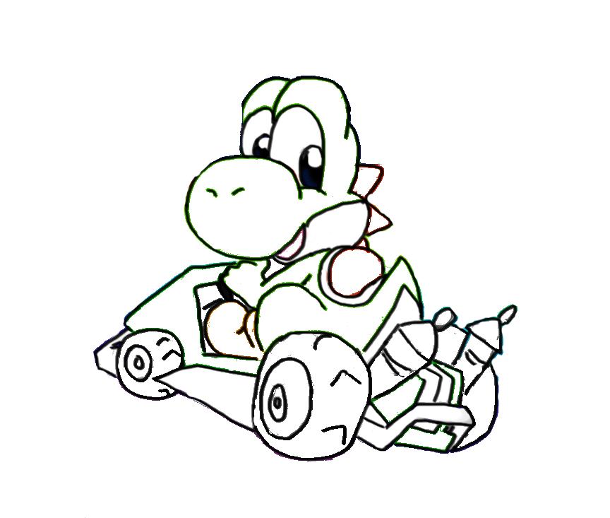 Nintendo Yoshi Coloring Pages