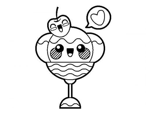 Imágenes kawaii para colorear: Bonitos dibujitos animados