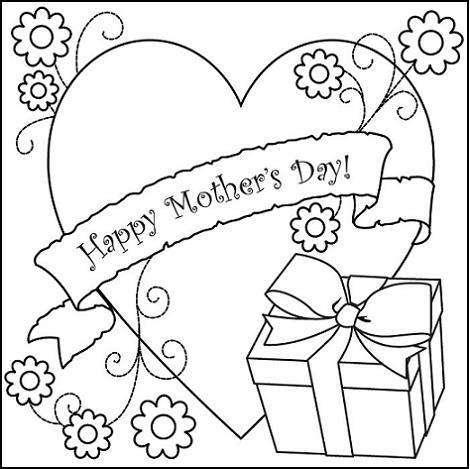 Dibujos para colorear imágenes del Día de la Madre